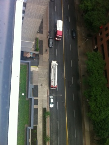 2013-07-05 Fire trucks at 28 Ted Rogers Way