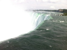 My favourite view: right at the edge, watching the water fall.