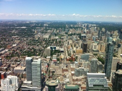 North from CN tower. Our place is off in the right corner.