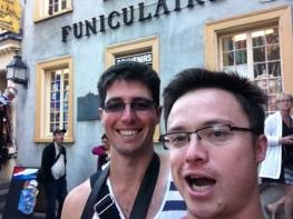 1 Sep 2013. Pretending to sing that Funiculi-Funicula song.