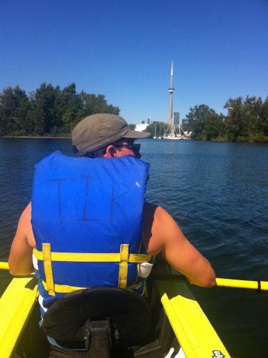 Kayaking on Toronto Island.