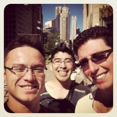 26 Sep 2013. Chicago. Walking down the Magnificent Mile