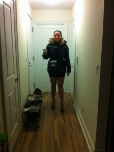 Jana's initial shoe choice.