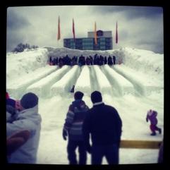 Ice slides!