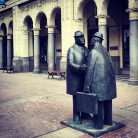 Conversation Sculpture, Downtown Calgary.