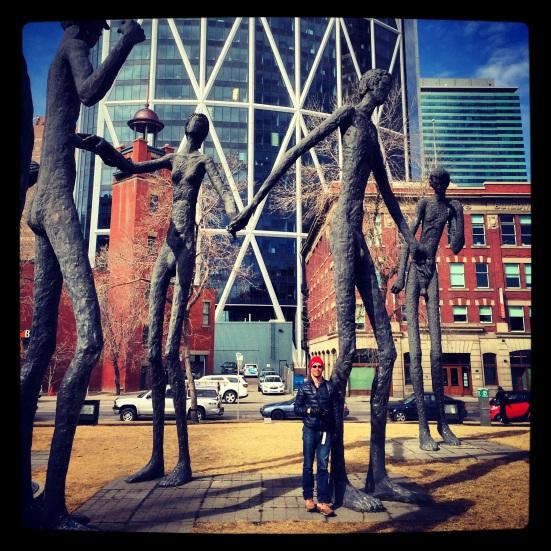 The Family of Man, 6 Ave SE, Calgary