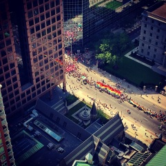 World Pride 2014 Toronto - we can see the route start from our balcony!