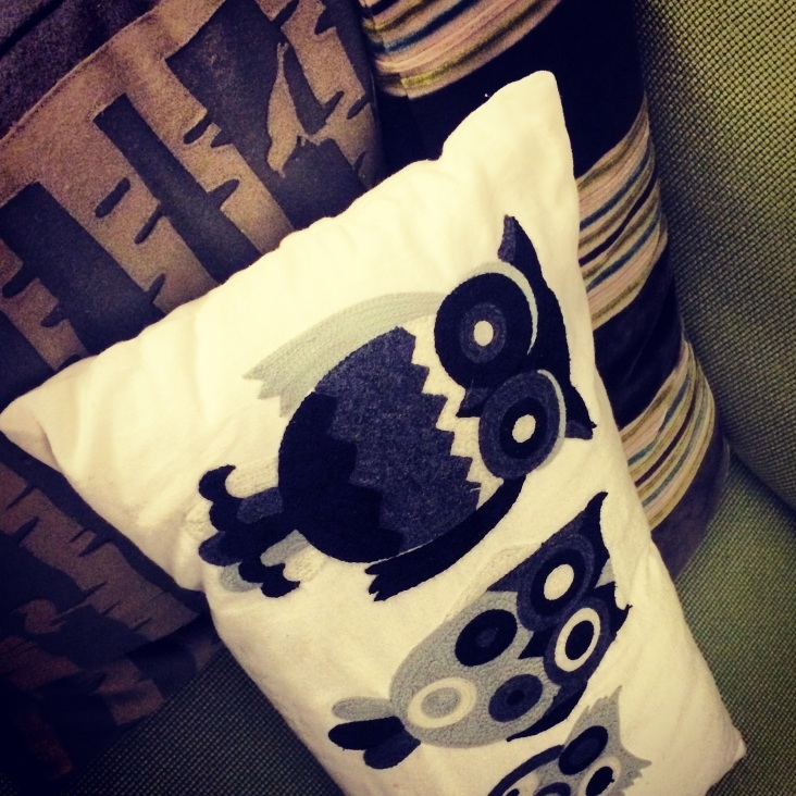 Bec's cushion.