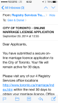 Canada Day 472: Dan submitted an application.