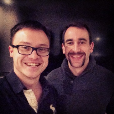 Day 526 celebrating Alastair and Israel's excellent Movember attempts.