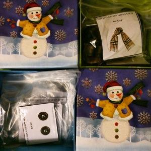 Snowman boxes at Dollarama: $1.50 each!