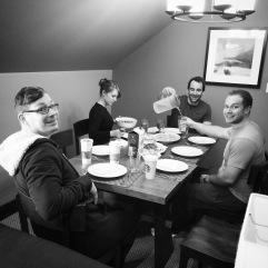 Group breakfast.