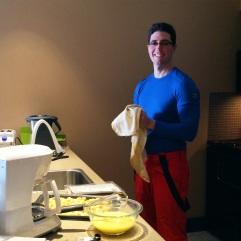 Dan even cooked breakfast.