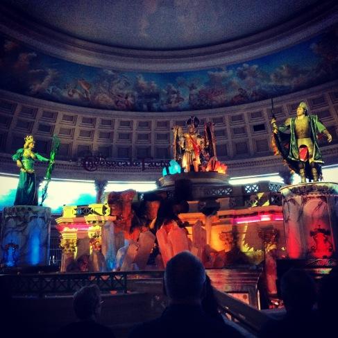 Atlantis moving sculptures.