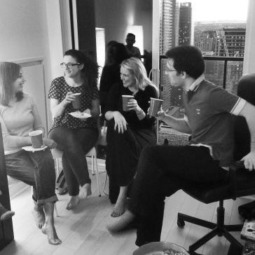 Tanya, Shlomit, Kirsteen & Luis.