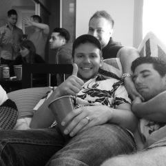 JOhn, Cam, Pete, Vince, Julian & a sleepy Dan