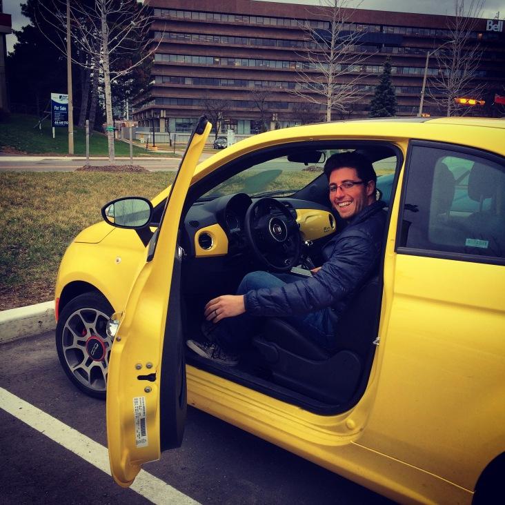 ZipCar! Fiat 500.