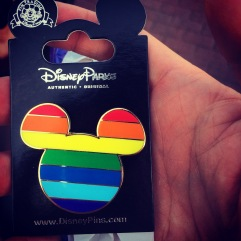 They even have rainbow Mickey ears.
