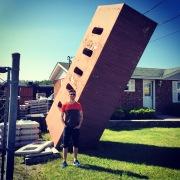 Giant Brick, St John, New Brunswick, Canada.