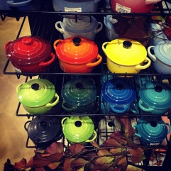 I resisted buying a rainbow of mini Le Creuset pots.