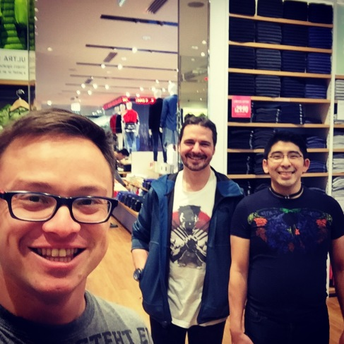 Shopping with friends made a chore fun.