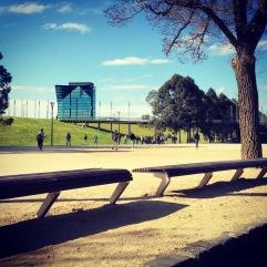 Melbourne, Sunday afternoon.