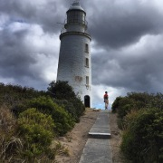 The lighthouse. Bruny Island, Tasmania.