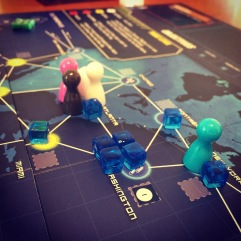 We finally played the first month of Pandemic Legacy