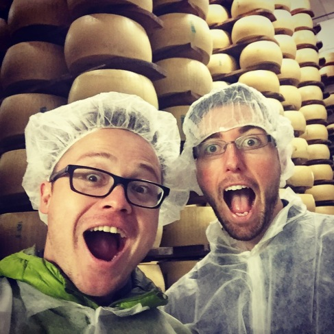 So much cheese! Parmigiano-Reggiano D.O.P. factory, Modena, Italia.