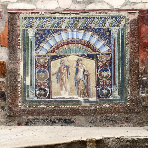 Our kitchen splash back is not going to look this fancy. Ercolano, Italy