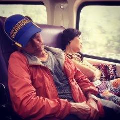 Dad and Aunty Ella promptly fell asleep