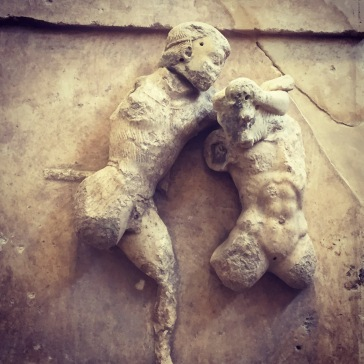 Theseus and Minotaur, Delphi